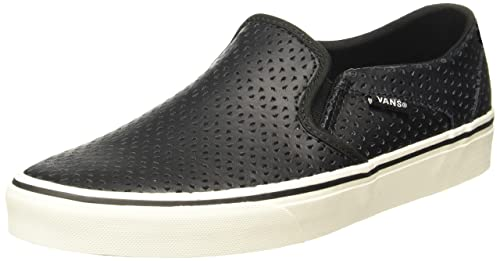 a5cfe162b3 Vans Women s Asher (Geo Perf) Black Leather Sneakers - 3.5 UK India (