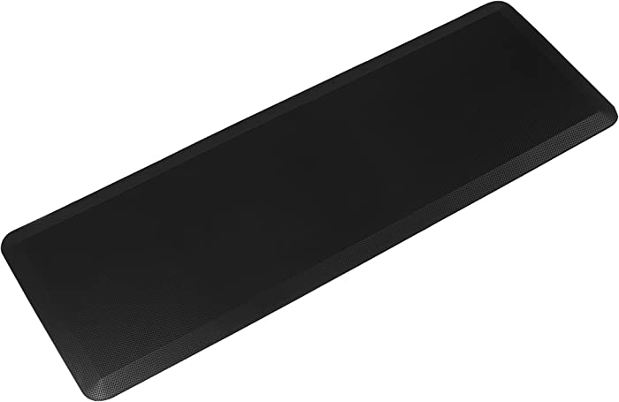 Anti Fatigue Comfort Floor Mat By Sky Mats -Commercial Grade Quality Perfect for Standup Desks, Kitchens, and Garages - Relieves Foot, Knee, and Back Pain (24x70x3/4-Inch, Midnight Black)