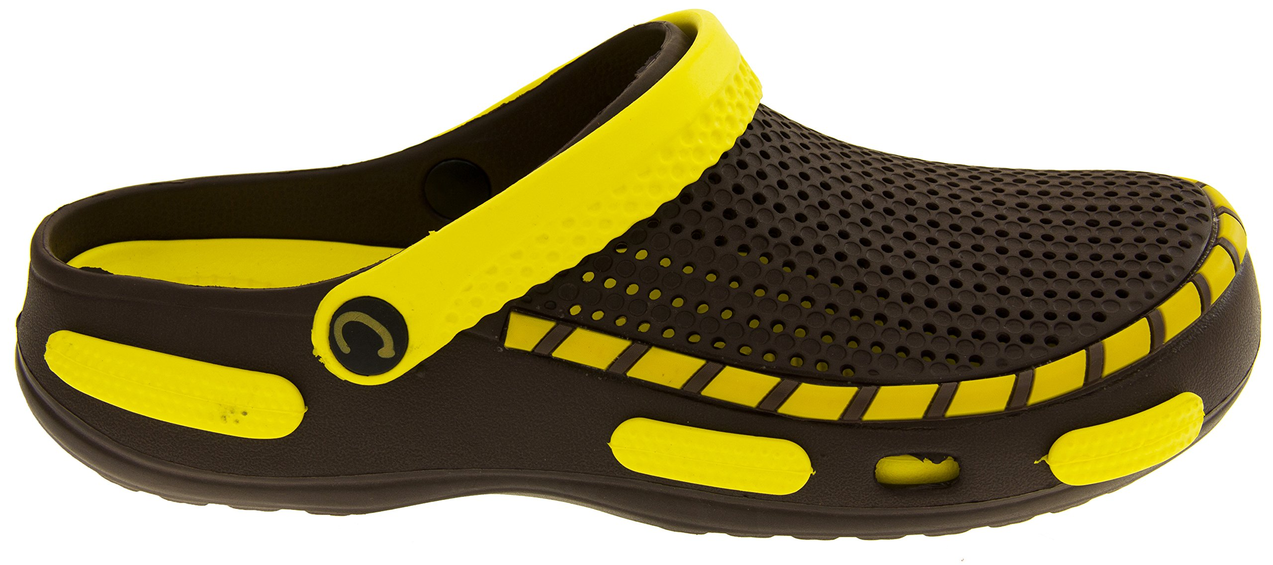Coolers Mens Beach Clog Sandals Yellow 11 D(M) US by Coolers (Image #3)