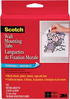 product image for Scotch Wall Mounting Tabs 7225, 1/2-in x 3/4 in, 480 Tabs per Box