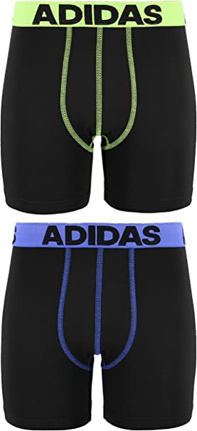 New in bag ADIDAS BOXER BRIEF climalite moisture wicking BLACK GRAY print yellow