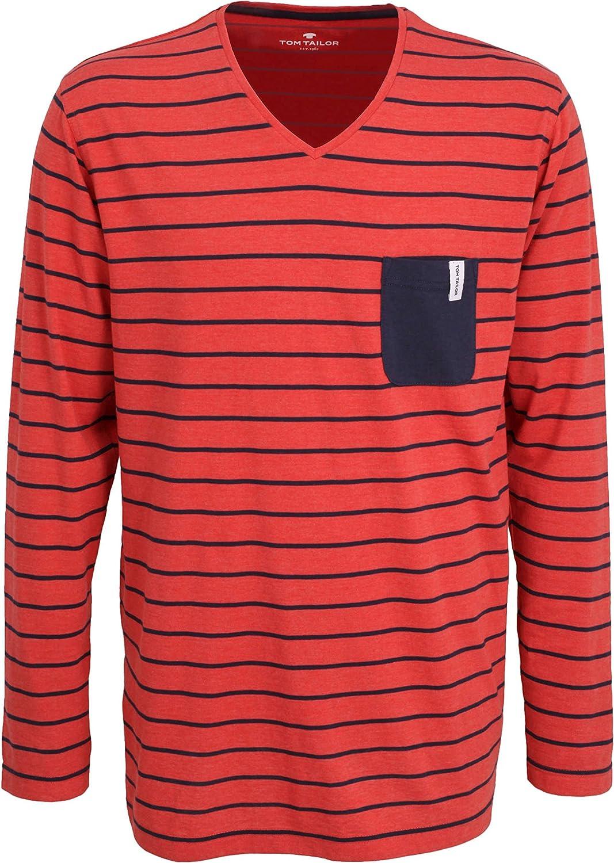 Tom Tailor - Camiseta para hombre, diseño a rayas, color rojo Rojo medio. 54: Amazon.es: Ropa y accesorios