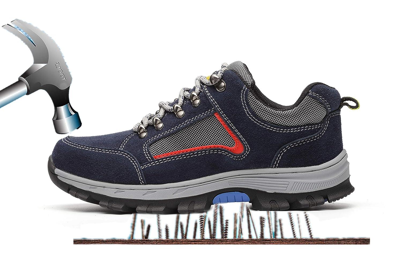Aizeroth-UK Bottes Chaussure de B012OBQCEK Sécurité Respirant de S3 Chaussure de Travail Embout de Protection en Acier Semelle de Protection Anti-Collision Prévention des piqûres Bottes Baskets Chantiers et Industrie Bleu-1 b57db14 - shopssong.space