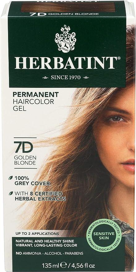 Herbatint – permanente a base de plantas haircolour Gel 7d Rubio Claro – 135 ml