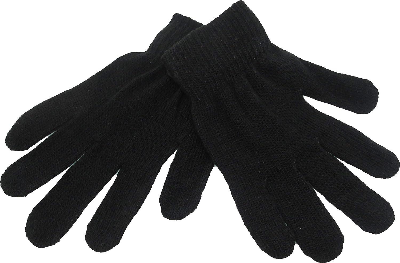 Light Grey - L Magic Plain Knit Mens Gloves
