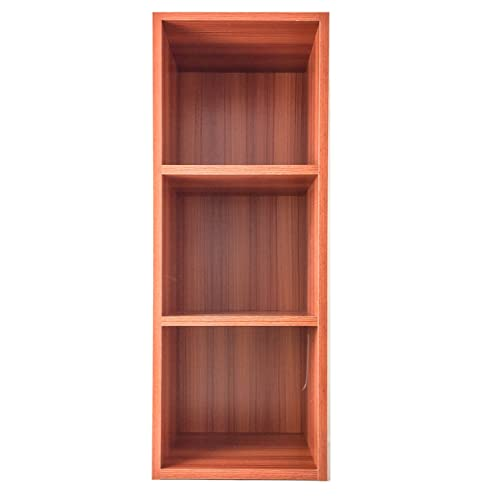 PROGEN DISPLAY 3 SHELF STORAGE WOODEN BOOKSHELF LEVEL TIER BOOKCASE STAND RACK UNIT