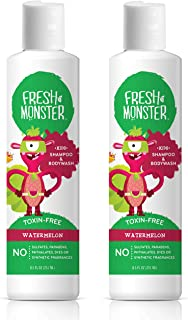 product image for Fresh Monster Kids Shampoo & Body Wash, Watermelon |Toxin-Free Hypoallergenic & Natural |(2 Pack, 8.5oz/ea)