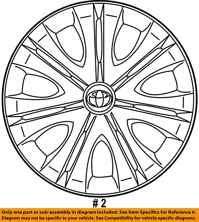 Amazon Com Genuine Toyota 42602 12790 16 Wheel Cover Automotive