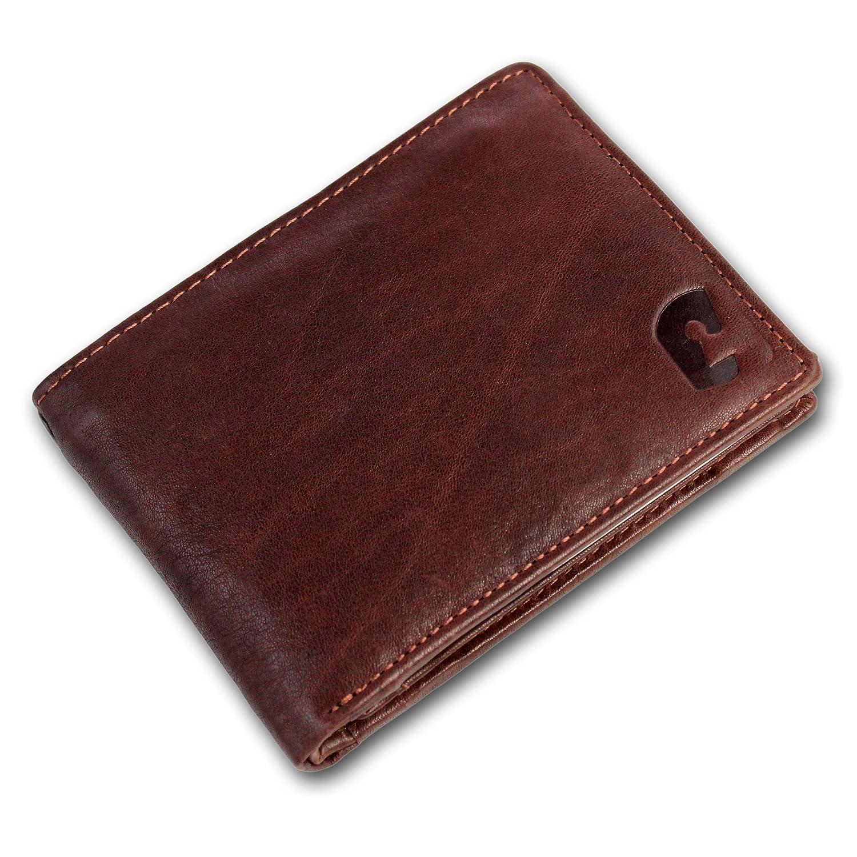 Safekeepers RFID Portefeuille Homme Portemonnaie - Éclair Secrète - Cuir Vachette Veau Ciré Men' s Wallet