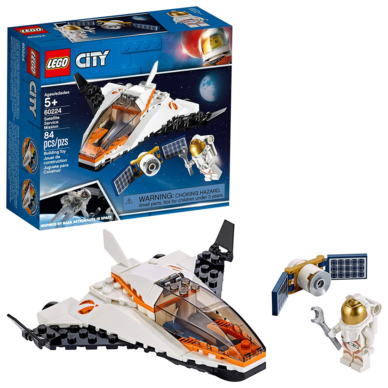 LEGO City Satellite Service Mission 60224 Building Kit, New 2019 (84 Pieces)
