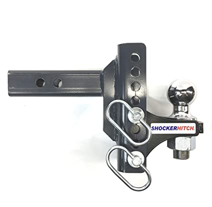 Adjustable Hitch Receiver >> Amazon Com Shocker Xr Receiver Hitch Ball Mount With