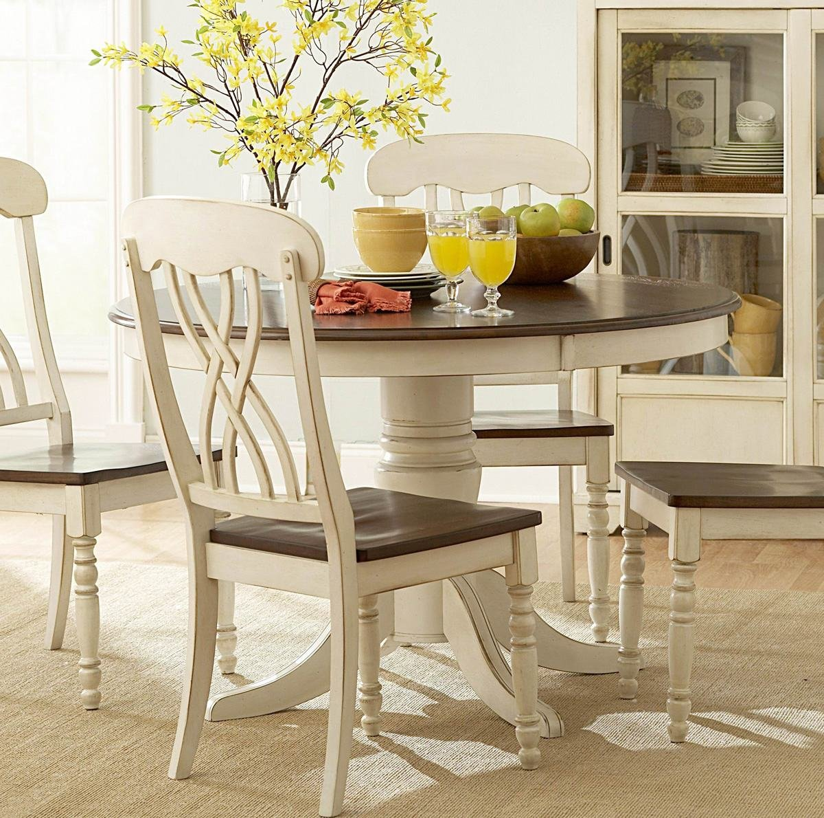 amazon com 48 ohana round table white by homelegance furniture