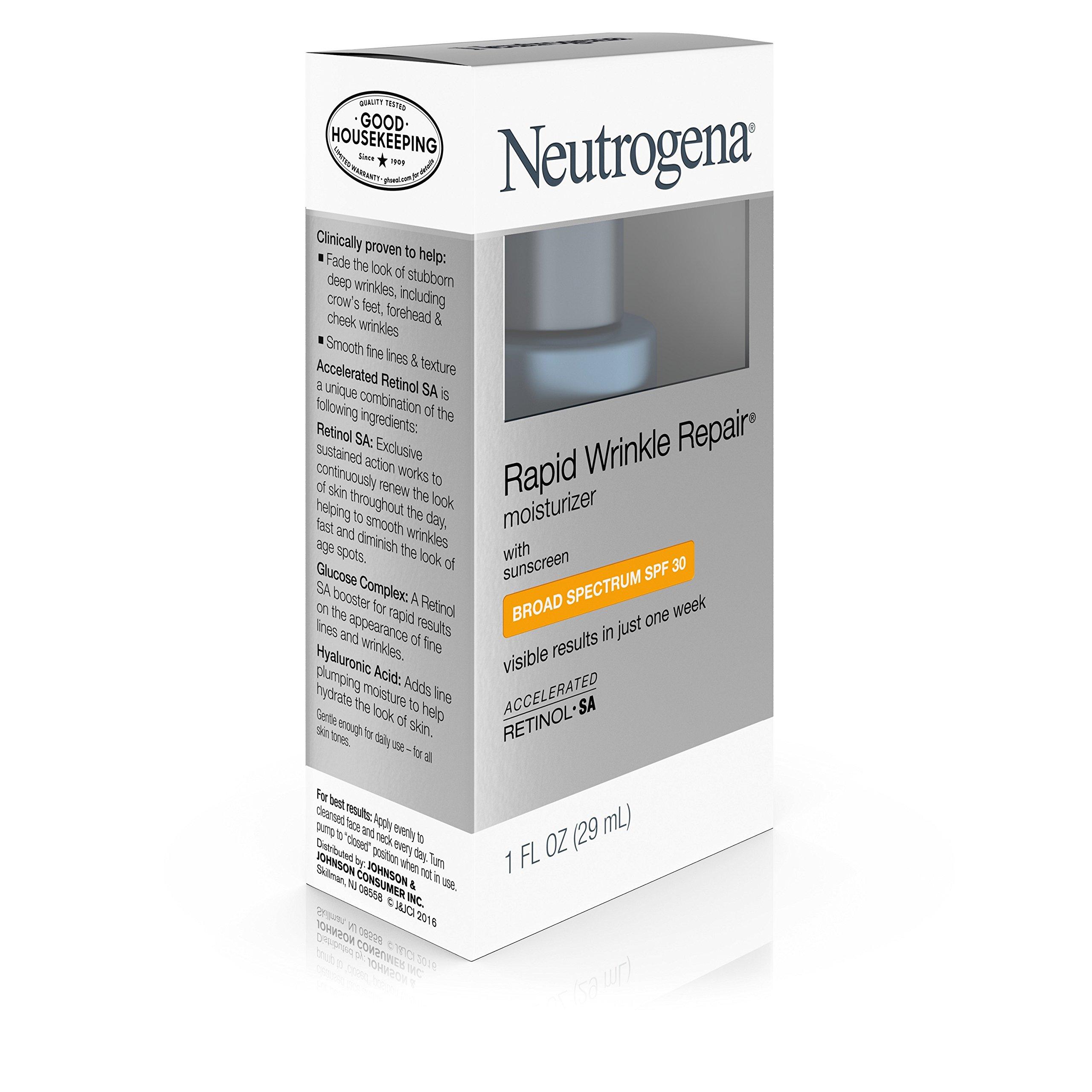 Neutrogena Rapid Wrinkle Repair Anti-Wrinkle Retinol Daily Face Moisturizer, with SPF 30 Sunscreen, 1 fl. Oz by Neutrogena (Image #5)