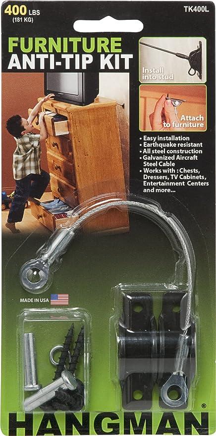 Hangman Products TK400-4 Furniture Anti-Tip Kit