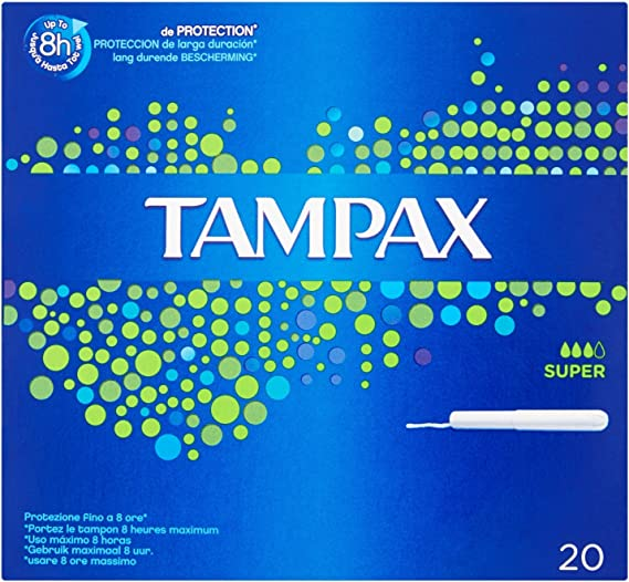 Tampax Tamponi, Utilise 8 horas maximo, 20 unidades: Amazon ...