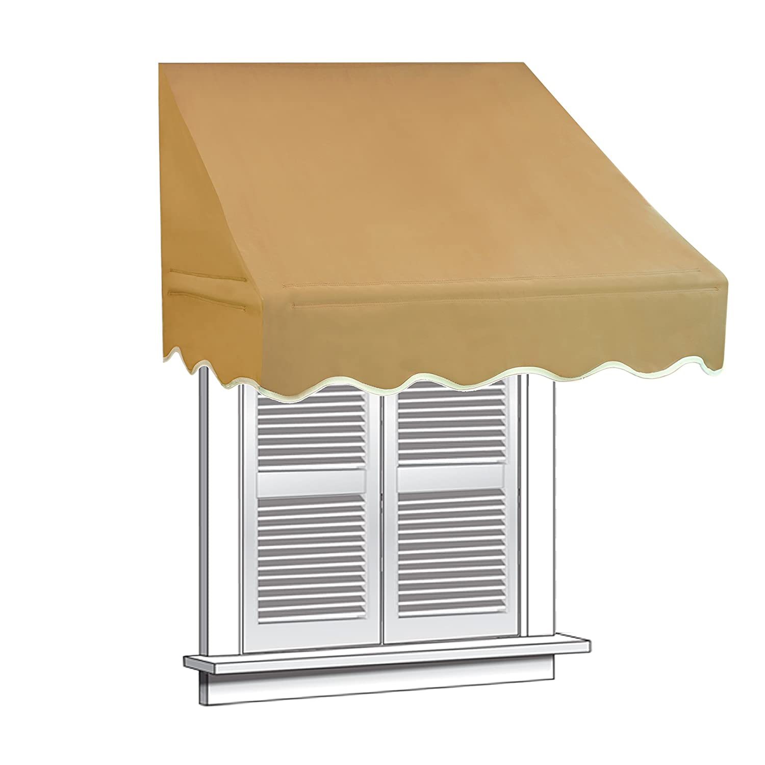 Aleko Window Awning Door Canopy Decorator, 4 Feet X 2 Feet, Sand      Amazon.com
