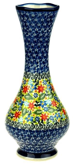Amazon Ceramika Boleslawiecka Kalich Polish Hand Painted Vase