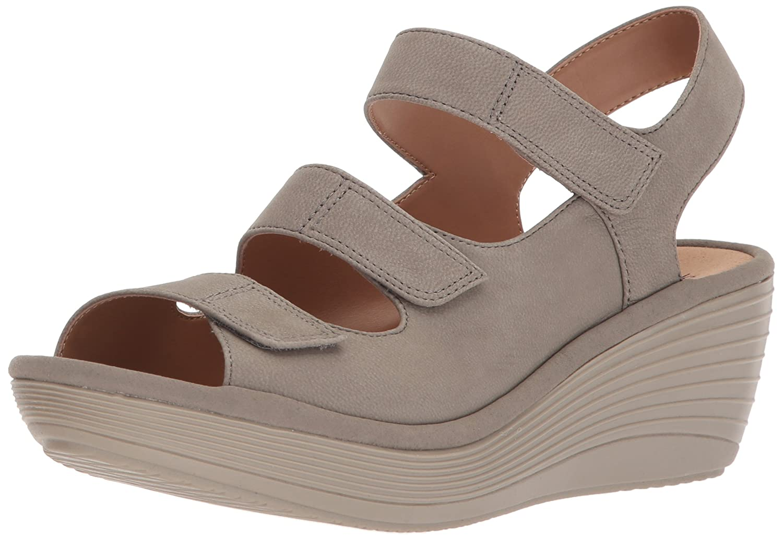 19ad36d2 Amazon.com | CLARKS Women's Reedly Juno Wedge Sandal | Platforms & Wedges