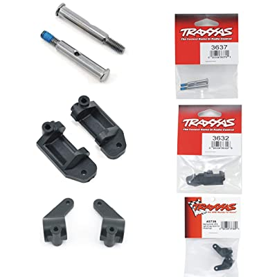 Pair of Traxxas Steering and Caster Blocks with Stub Axles for 2WD Slash Stampede Rustler or Bandit: Toys & Games