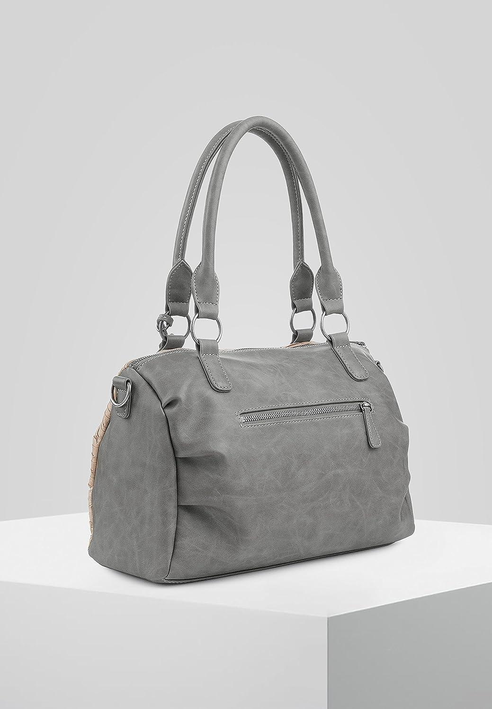 Fritzi från förkrympt dam Ilona handväska, 13,5 x 25 x 34 cm Grå (basalt)