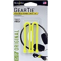 Nite Ize GT6-2PK-33  Nite Ize GearTie 15.2cm 2li Paket Kablo Düzenleyici Neon Sarısı Turuncu/Yeşil/Kımızı/Siyah