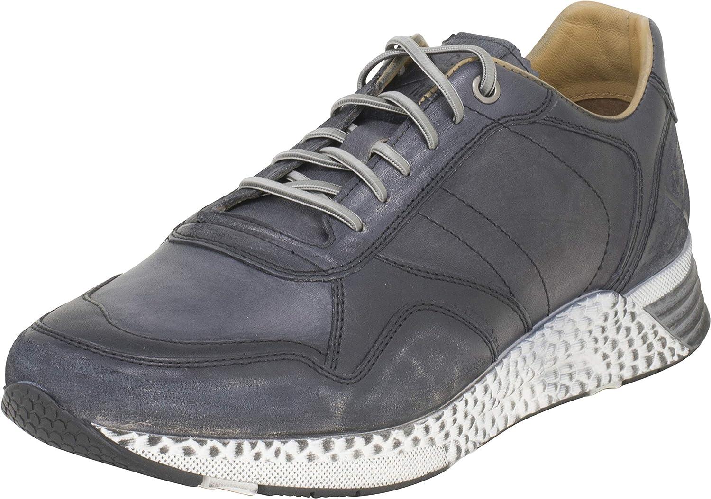 Cafe Moda Hombres Zapato Deportivo Ken Cuero Zapatillas de Piel Lisa con Animal Print. (EU,)