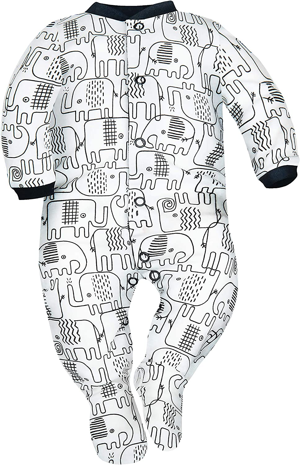 Pack of 4 SIBINULO Baby Boys Baby Girls Sleepsuit with Feet Mix Sizes 0-9 Months