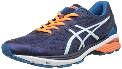 Asics Gt-1000 5, Zapatillas de Running para Hombre, (Indigo Blue/Snow/Hot Orange), 40.5 EU: Amazon.es: Zapatos y complementos