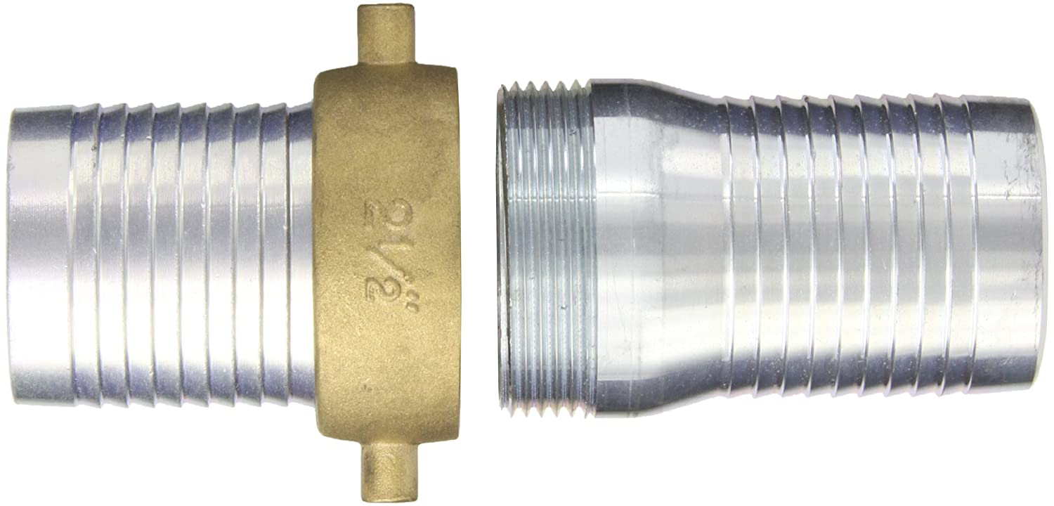 King Short Shank Suction Coupling with Brass Nut Dixon Valve CSB250 Plated Steel Shank//Water Fitting 2-1//2 NPSM x 2-1//2 Hose ID Barbed