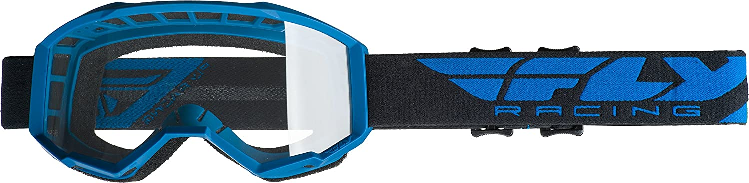 Electric Blue//Clear//One Size Fly Racing Focus Youth Off-Road Motorcycle Goggles