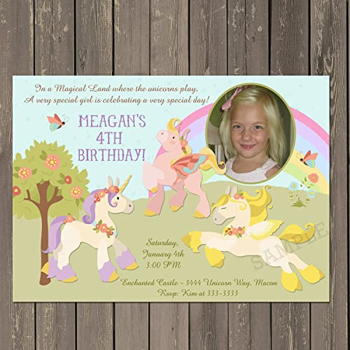 Amazon Unicorn Invitation Birthday Party