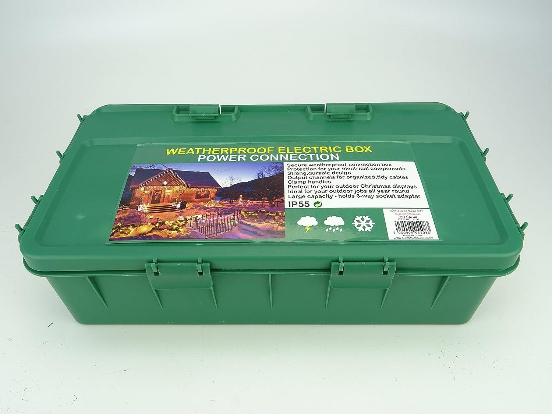 Christmas Concepts® Large Green Weather Proof Box 42cm x 22cm x 10cm Boîte à bouchon extérieure