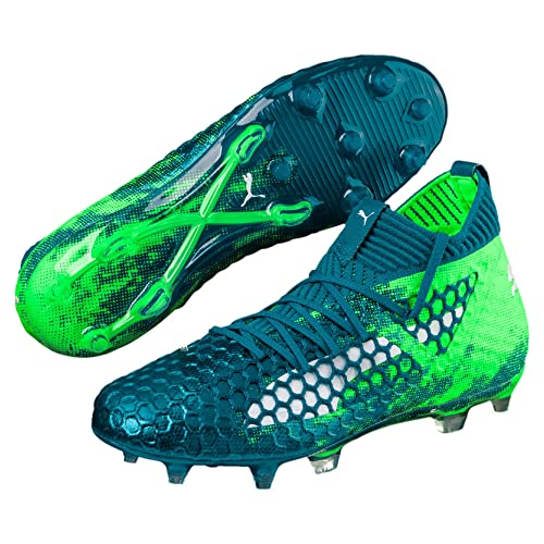 09a0eff43591 Puma Future 18.1 Kids Netfit HyFG Football Boots - Deep Lagoon White/Green  Gecko -