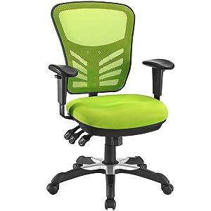 Modway Articulate Ergonomic Mesh Office Chair in Green