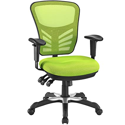 free shipping 6d597 c5847 Modway Articulate Ergonomic Mesh Office Chair in Green