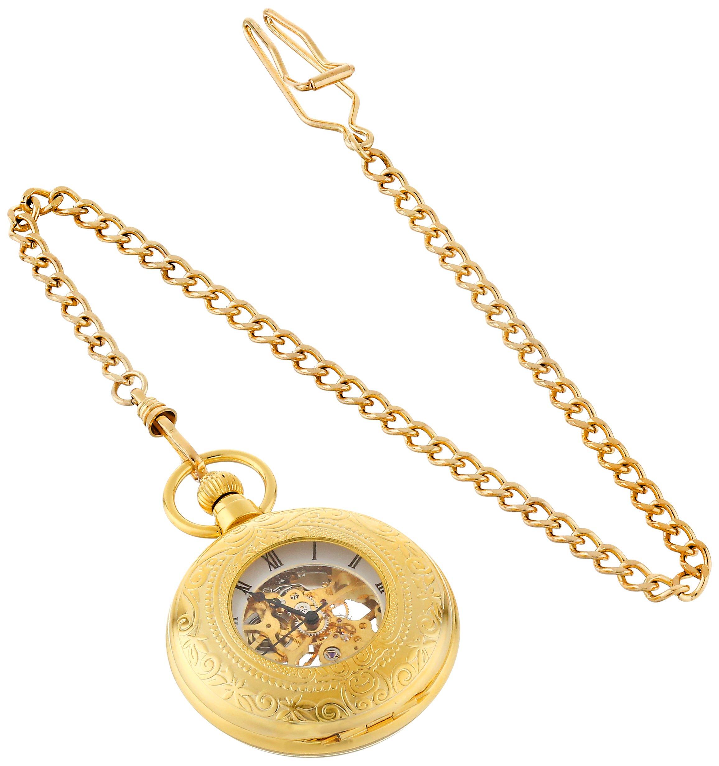 Charles-Hubert, Paris Gold-Plated Mechanical Pocket Watch by CHARLES-HUBERT PARIS (Image #3)