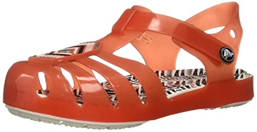 0c3ee566a290 Image Unavailable. Image not available for. Colour  Crocs Kids Isabella  Sandals Drew Barrymore Print in Orange 205199 ...