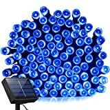 Amazon Price History for:Solar Lights Outdoor 72ft 200 LED Fairy Lights, Ambiance lights for Patio, Lawn,Garden, Home, Wedding, Holiday, Christmas, Xmas Tree decoration,waterproof/Timer/USB Charge (Blue)