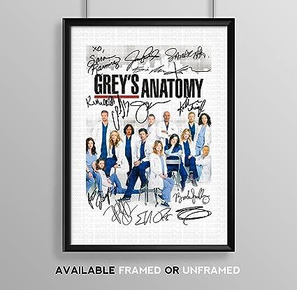 Gris fundido anatomía firmada por la firma autografiados A4 ...