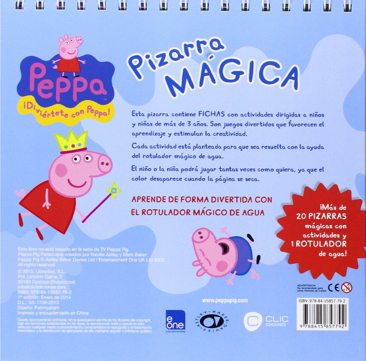 PIZARRA MAGICA PEPPA PIG: 9788415857792: Amazon.com: Books