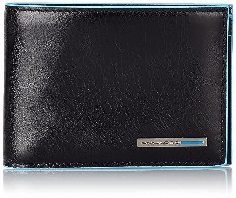 6688ecbf58 Piquadro PU3242B2/N Blue Square Portafoglio, Nero, 10 cm: Amazon.it ...