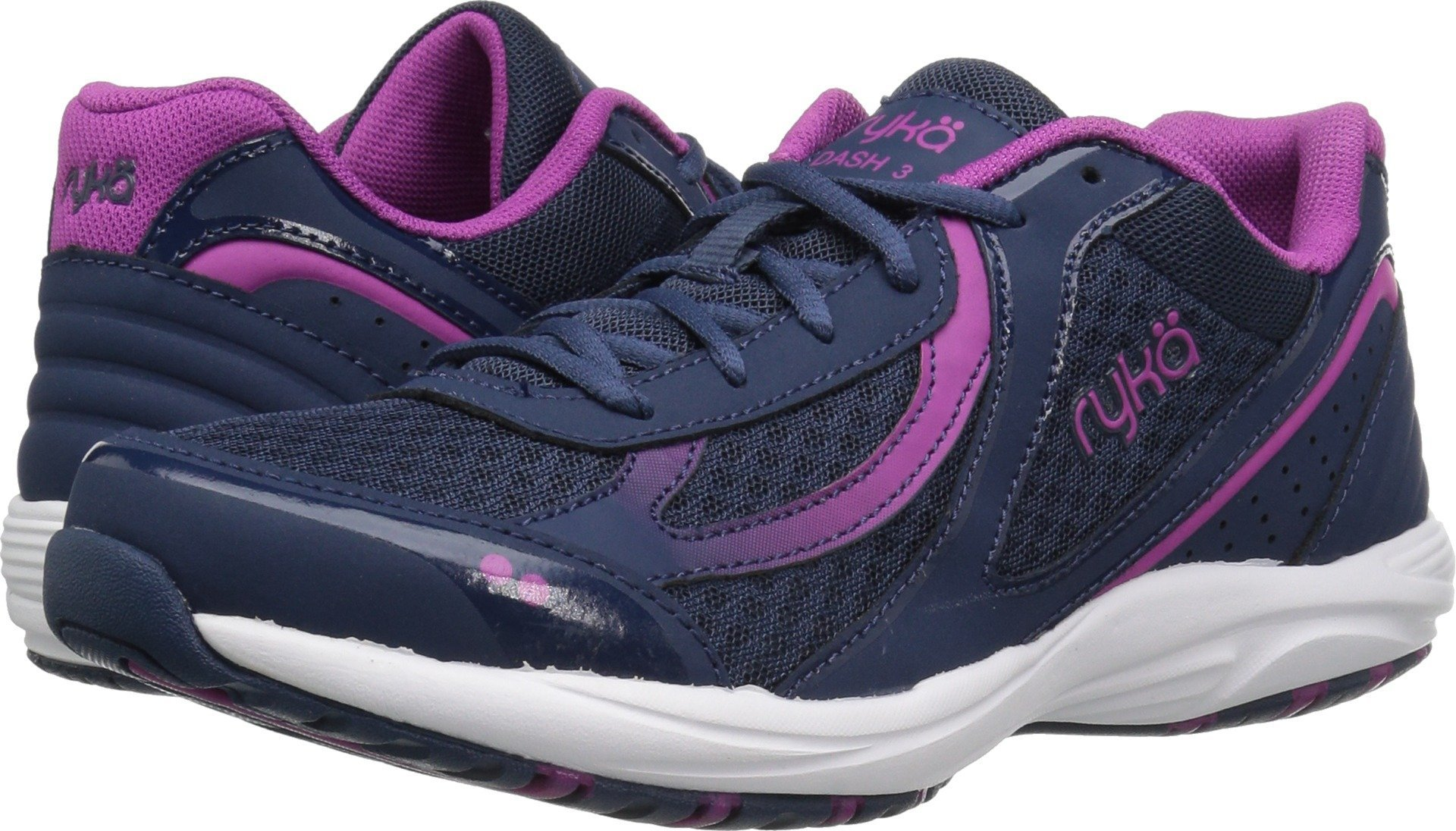 Ryka Women's Dash 3 Walking Shoe, Navy/Pink, 7.5 M US