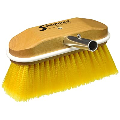 "Shurhold 308 8"" Window and Hull Brush with Soft Yellow Polystyrene Bristles: Automotive [5Bkhe1001954]"
