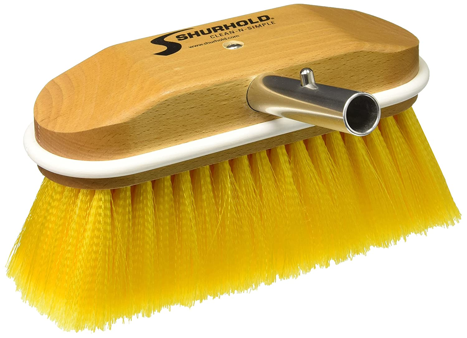 Shurhold 310 8' Window and Hull Brush with Extra Soft Blue Nylon Bristles