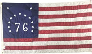 product image for 3x5' Bennington '76 Flag, Sewn and Embroidered All Weather Nylon Outdoor Patriotic Flag, Made in The USA