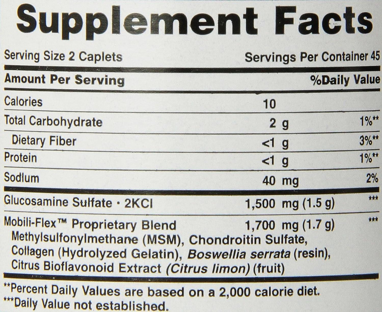 Glucosamina Condroitina MSM Triple Potencia 90 Tabletas. Puritans Pride 1 und.: Amazon.es: Salud y cuidado personal