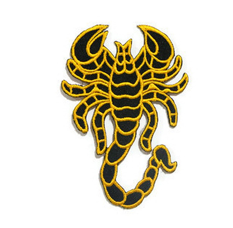 Mortal kombat yellow logo embroidered patch sub-zero scorpion.