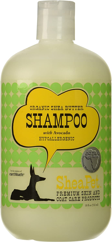 EARTHBATH 026501 Shea Butter and Avocado Shamp Sulfate-Free Shampoo for Dogs, 18-Ounce