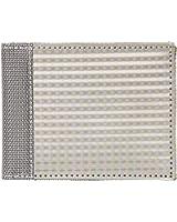 Stewart/Stand Checkered Texture Bi-Fold Crossing Slots Wallet