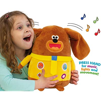 Hey Duggee Musical Duggee Soft Toy with Fun Moving Ears, Lights, Sounds and Songs, 24cm: Toys & Games